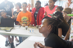 Students learn about phosphorous in soil and how too much of a good thing can lead to eutrophication and algae blooms in lakes.
