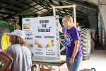 The Wheat State Agronomy Club undergraduate students gave a hands-on presentation on the grains that go into bird seed.