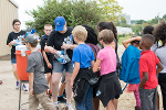 Water stations are located between several of the learning stations.