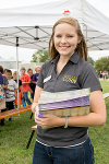 """The Kansas Corn Commission was kind enough to provide some funding for a pizza lunch for each field day attendee, and each class got a copy of the poster """"How a Corn Plant Develops"""" too."""